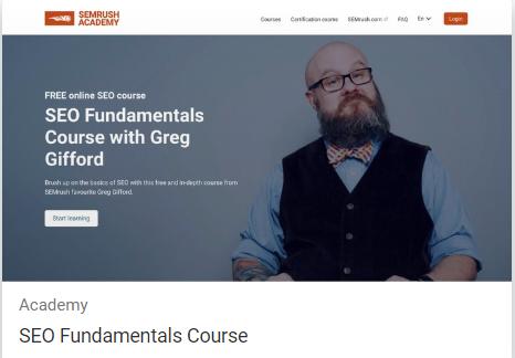 Greg Gifford seo fundamentals course